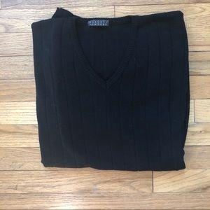 Barney's New York Virgin Wool Black Sweater